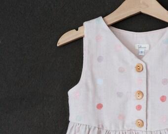SALE Girls Dress Blush, Toddler Dress Blush, Girls Dress Light Pink, Toddler Dress Light Pink, Polka Dot Dress Baby, Polka Dot Dress Toddler