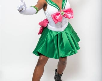 Sailor Jupiter Costume with Wig & All Accessories