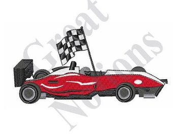 Car Racing - Machine Embroidery Design