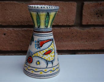 Stunning and Unusual FRATELLI FANCIULACCI CHICKEN Vase c1950s/60s Florence Italy Approx 14.4cm 5 5/8""