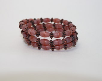 Burnt orange wrap bracelet
