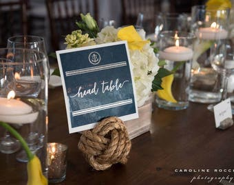 Nautical Table Number Signs