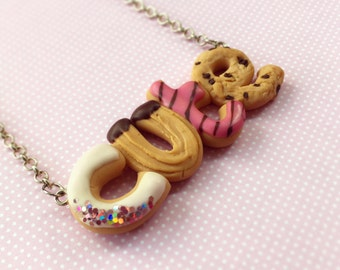 CUTE Necklace, Super Sweet handmade Necklace with Miniature Food