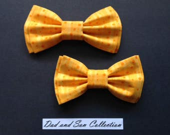 Bow Tie, Dad and Son Bow Ties, Orange Bow Tie, Father Son Bow Ties,Mens Bow Tie, Groomsmen Bow Tie, Ring Bearer Bow Tie, Boys Bow Tie  DS676