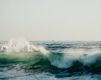 Oahu, Hawaii ocean waves photography print