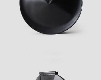 Round Leather Bag, Black Leather Bag, Round Bag, Circle Bag, Handmade Leather Bag, Women Handbags, Phone Bag, Shoulder Bag, Women Purse