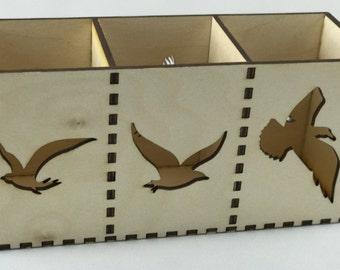 Tealight holder Birds