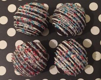 sugar crystal chocolate covered chocolate cake ball •one dozen