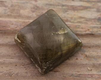 Natural Labradorite Cabochon square shape 20x20x10mm
