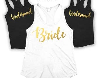 Bridal party shirts, Bridesmaid gift, bridesmaid shirt, bridal shirts, Bachelorette party shirts, Wedding gift, Bridesmaid tank, bride shirt