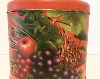 Vintage name BALOCCO Italia decor fruits tin box