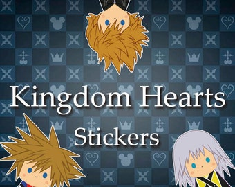 FREE SHIPPING!!! | Set of 3, 6 & 9 | Kingdom Hearts Stickers