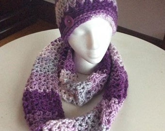 Ready to ship * Beautiful Hat and scarf set