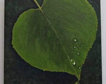Dew Drop Leaf - Original Painting