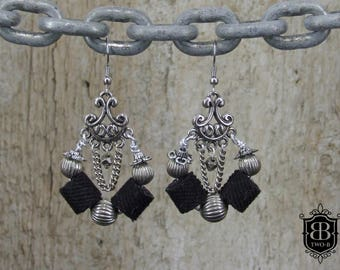 Earrings jewelry from Denim Jeans Retro Gothic