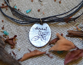 Basil - Witchcraft Necklace//Magic Pendant//Magick//Wicca//Witchcraft Jewelry//Herbology