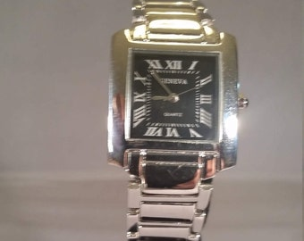 watch stainles silver black