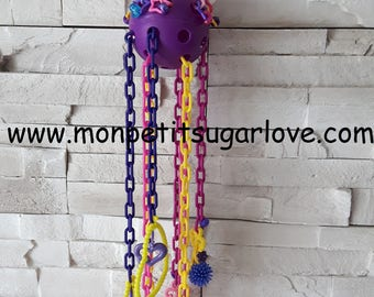 Crazy pulleys Foraging/reset toy for sugar gliders. Premade toy ready to ship!
