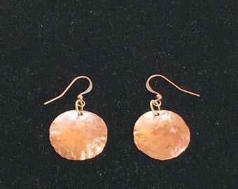 Copper domed earrings
