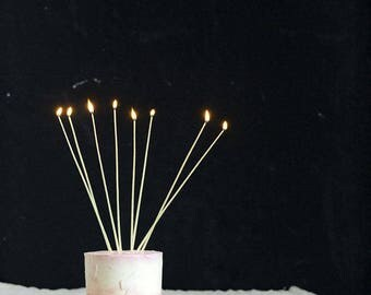 """280 mm (11"""") hand-dipped Taper Wax Candles 100% Beeswax Organic / 12 pcs"""