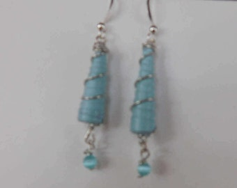 Recycled Materials Bead Earrings