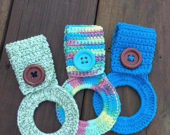 Crochet Beautiful Ombre Cotton Kitchen Towel Holders
