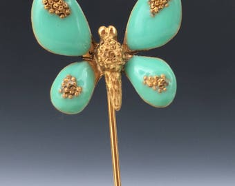 Enamel and Silver Gild Butterfly