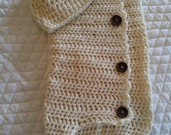 Soft Baby Cocoon and Hat Set