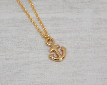 Chain yellow gold anchor mini