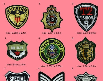 Enforcement Style Iron Patches