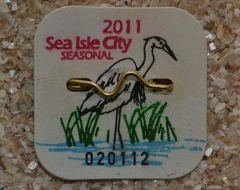 """2011 Canvas Print 14""""x14"""" Sea Isle City Beach Tag"""