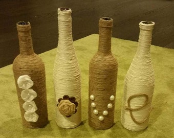 Love these L O V E twined bottles