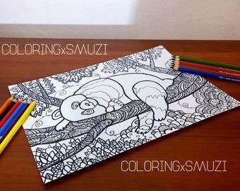 panda printable coloring panda coloring page printable coloring pages adult coloring page