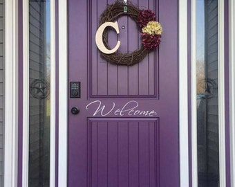 Welcome decal, large