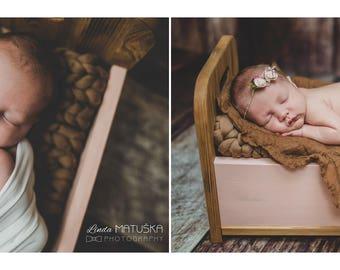 LITTLE BED - newborn photo prop, double colour