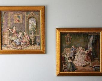 Pair of Renaissance Framed Tapestries