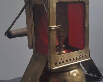 Rare German Railroad Carbide Lamp Lantern Light J.C. Giessing Nurnberg