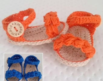 Baby cotton crochet sandals