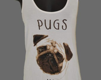 Pugs not Drugs printed Graphic Singlet Tank Top