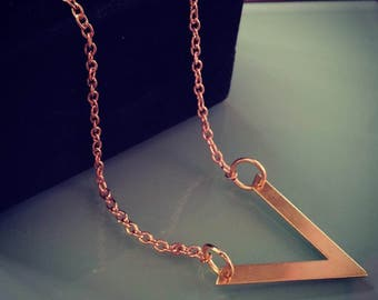 V Gold Chain Necklace