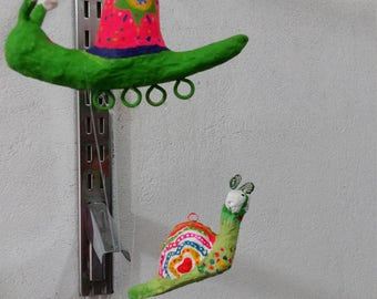 Colorful upcycled paper figures.Turtles, Pig, Ladybird. Home decor,  Hanging ornament. Handmade