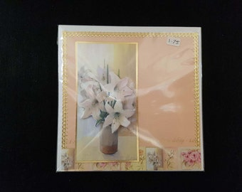 Handmade Decoupage Flowers Birthday card