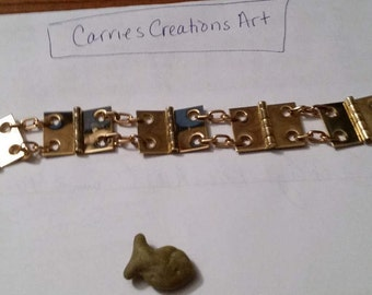 brass hinge bracelet