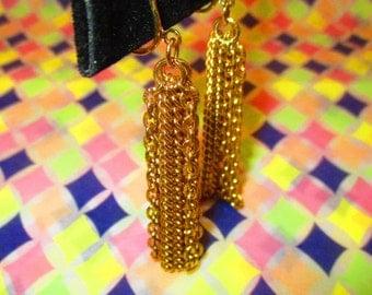 Vintage Rare Chain Earrings