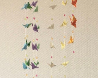 Baby butterfly origami mobile