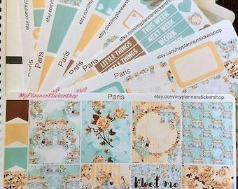 Erin Condren Vertical Planner Sticker/Paris Kit/Weekly Sticker kit/Matte Paper/Annie Plans Inserts/SewMuchCrafting Inserts/Froufroucraft