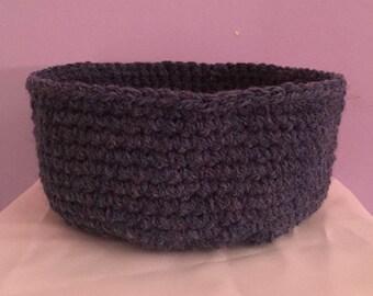 Blue Crocheted Basket