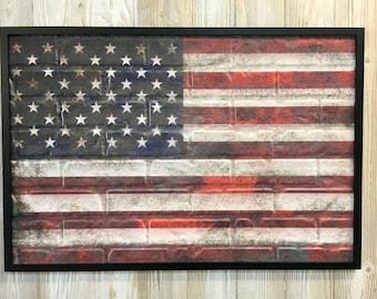 25 inch American Flag Wall Art