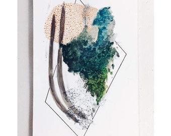 SEA - Original Abstract Mixed Media Painting