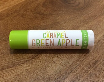 CARAMEL GREEN APPLE Lip Balm - All Natural - Homemade